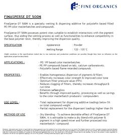 FinaSperse DT 500N Technical Data Sheet